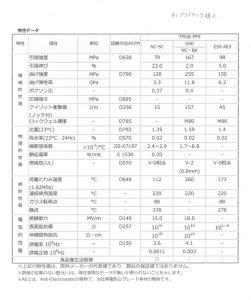 PPS(GF40)物性データ